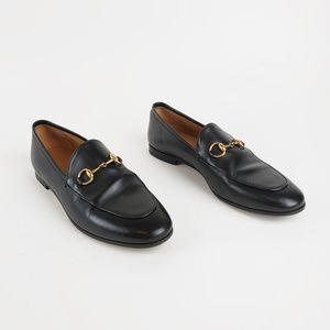 Gucci Jordaan Horsebit Leather Loafer